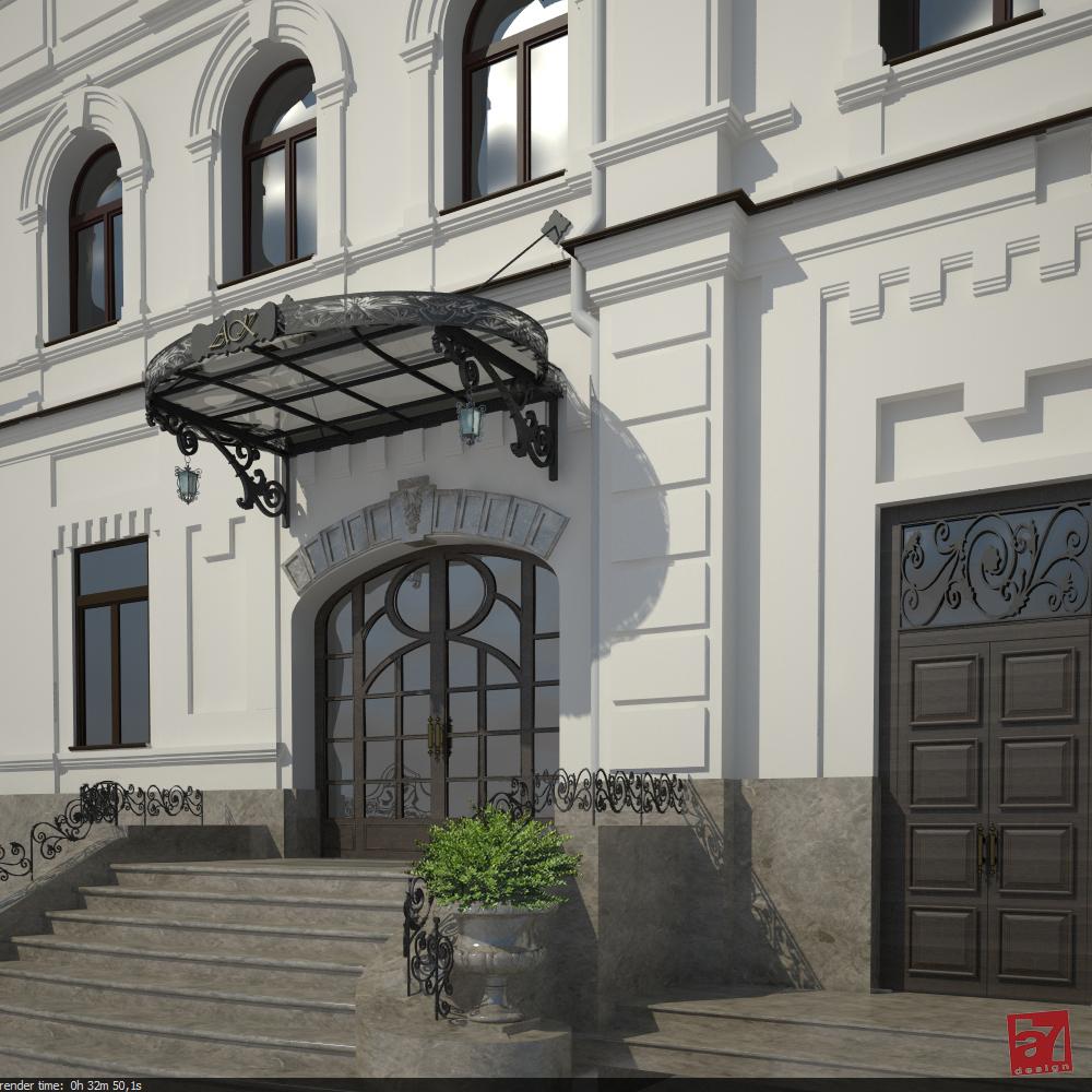 Дизайн экстерьера и интерьеров аукционного дома