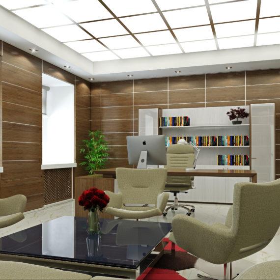 Интерьер кабинета в японском минимализме