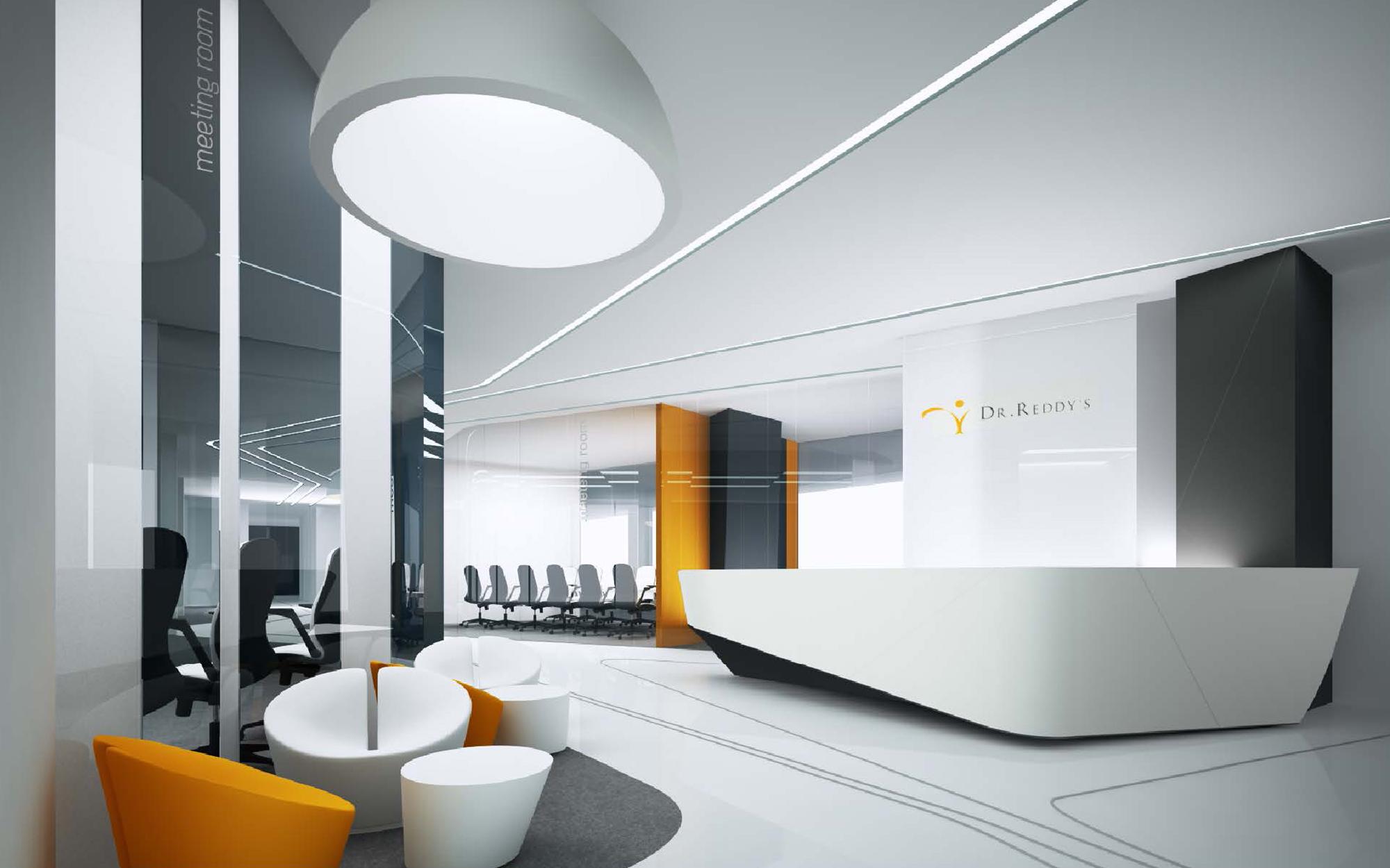Дизайн интерьера офиса фармацевтической компании