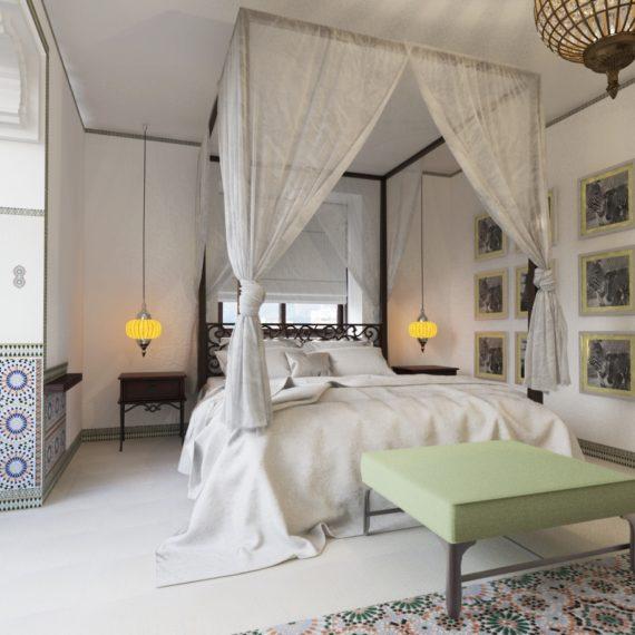 Дизайн интерьера спальни в арабском стиле