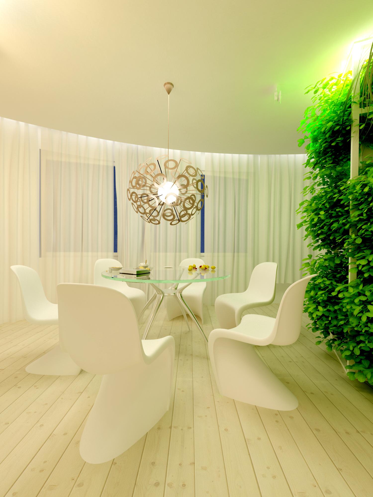 Дизайн интерьера апартаментов в белом, Киев