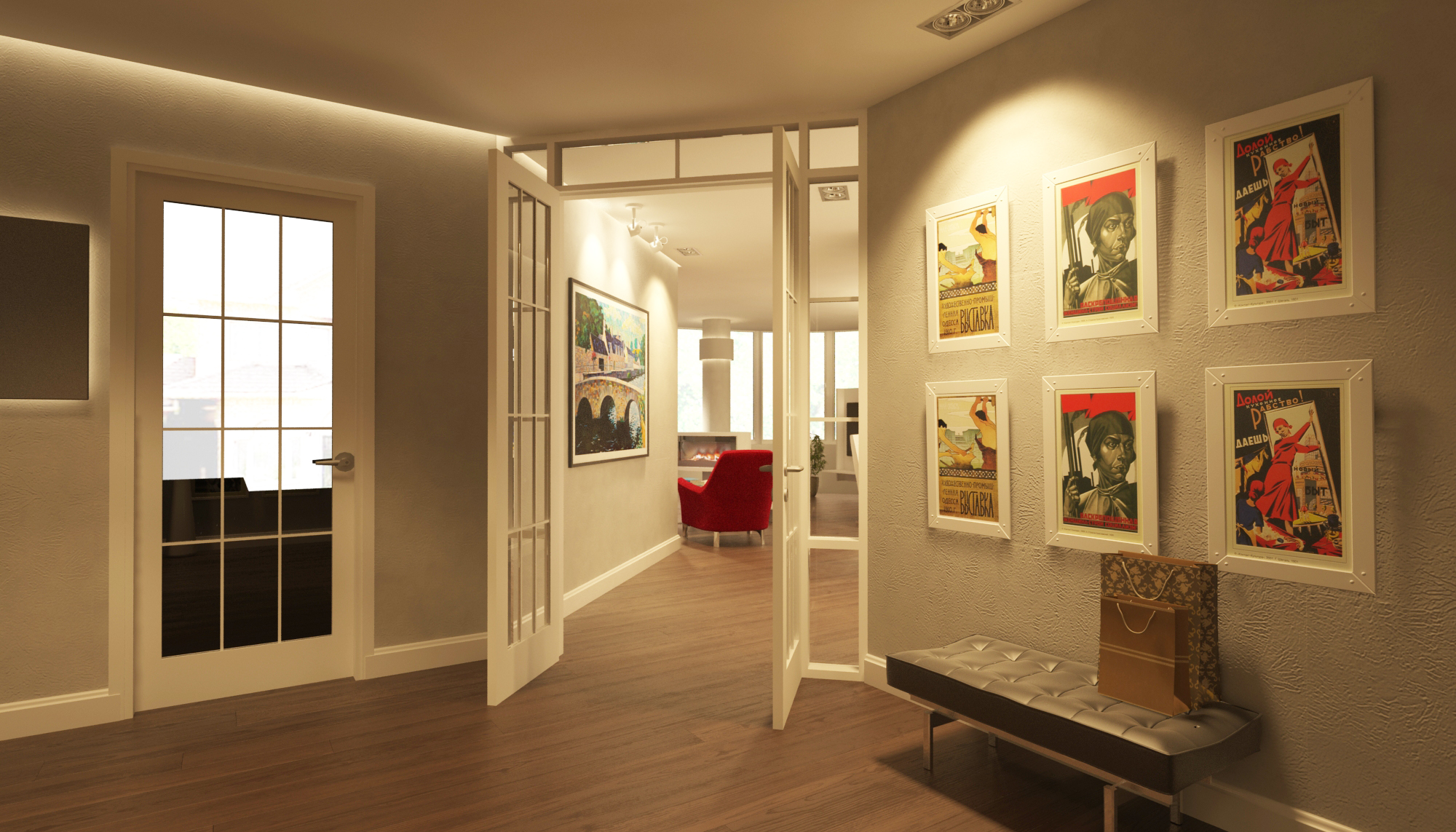 Дизайн интерьера апартаментов в эклектике