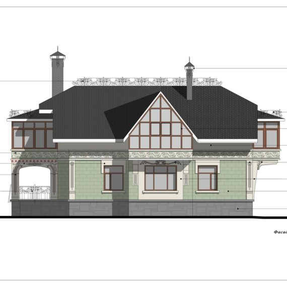 Дизайн фасадов дома в стиле Северный модерн