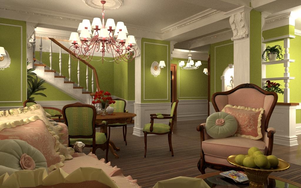 Дизайн интерьера апартаментов в стиле Бидермайер