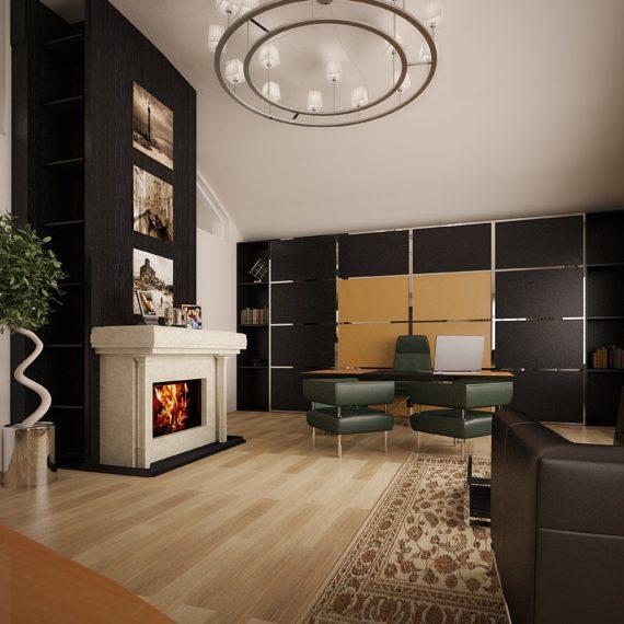 Дизайн интерьера кабинета директора