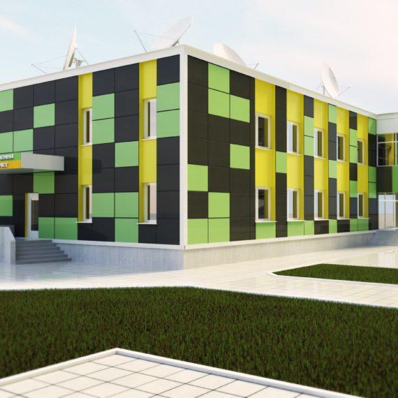 Дизайн фасада офиса Воля-кабель