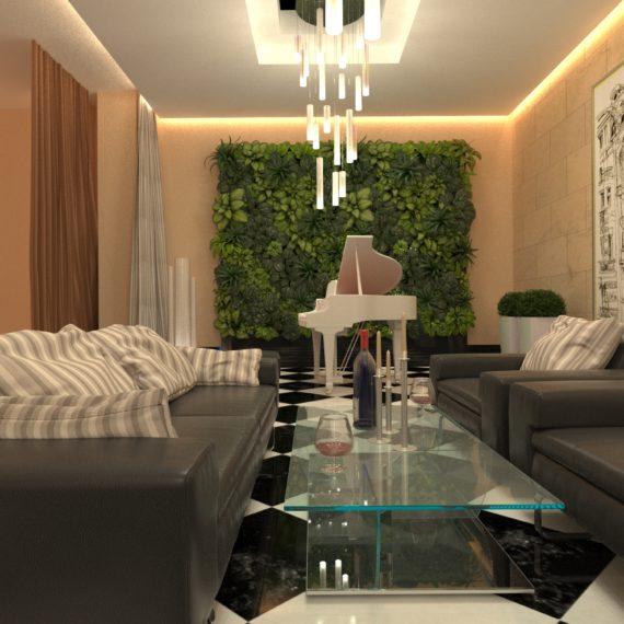 Дизайн интерьера холла клубного дома