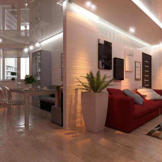 Дизайн интерьера 3-х комнатной квартиры с перепланировкой