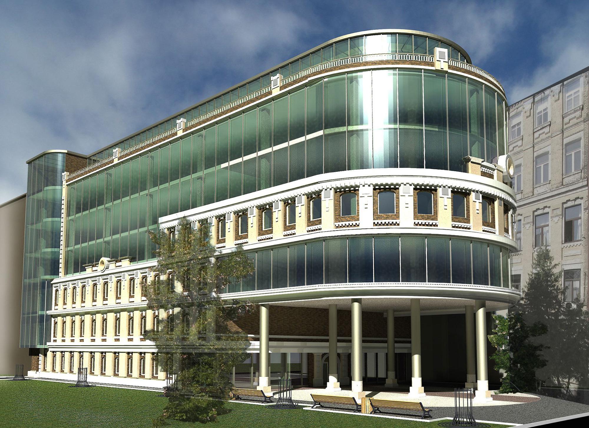 Реконструкция с надстройкой административно-офисного здания