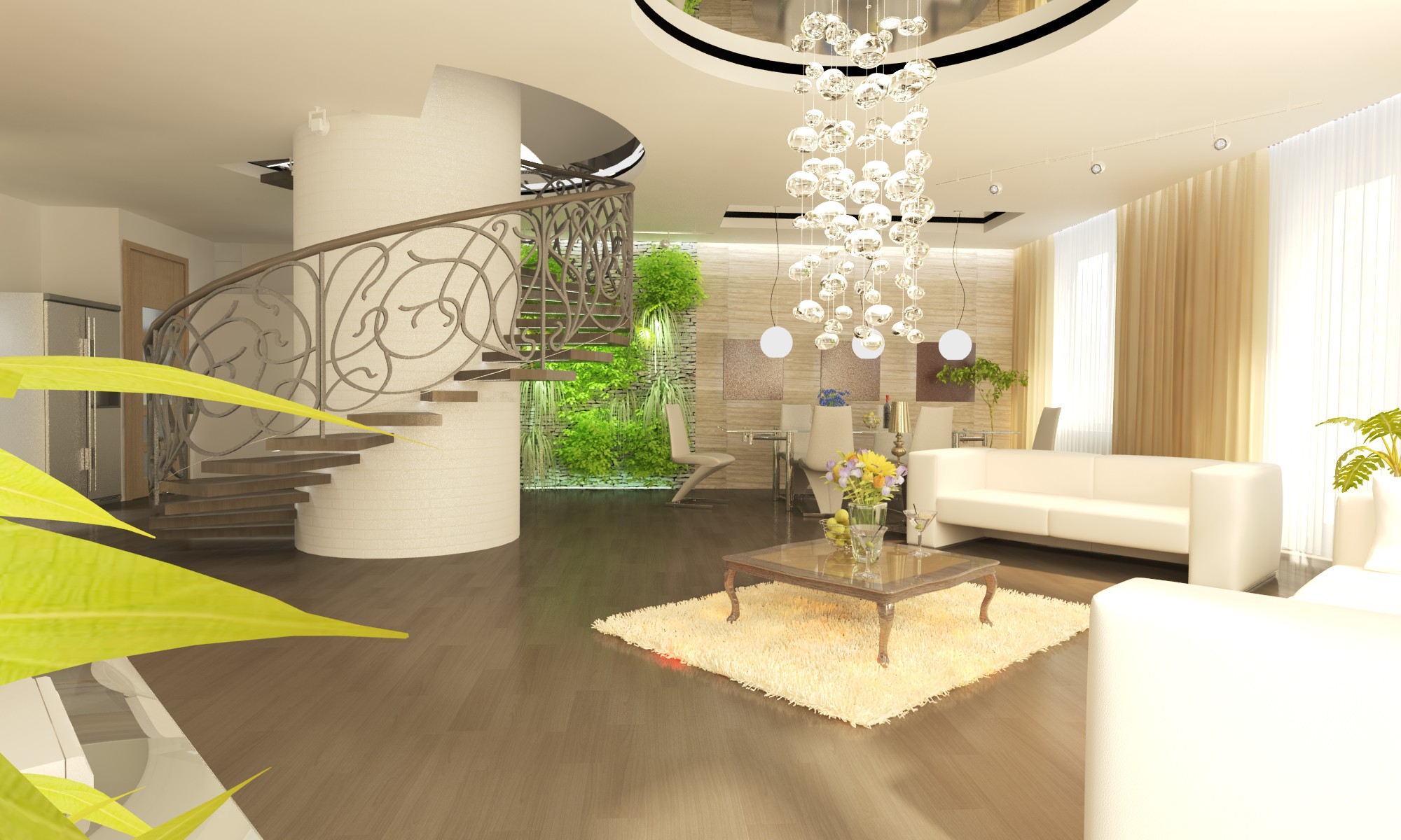 Дизайн интерьера 2-х этажных апартаментов
