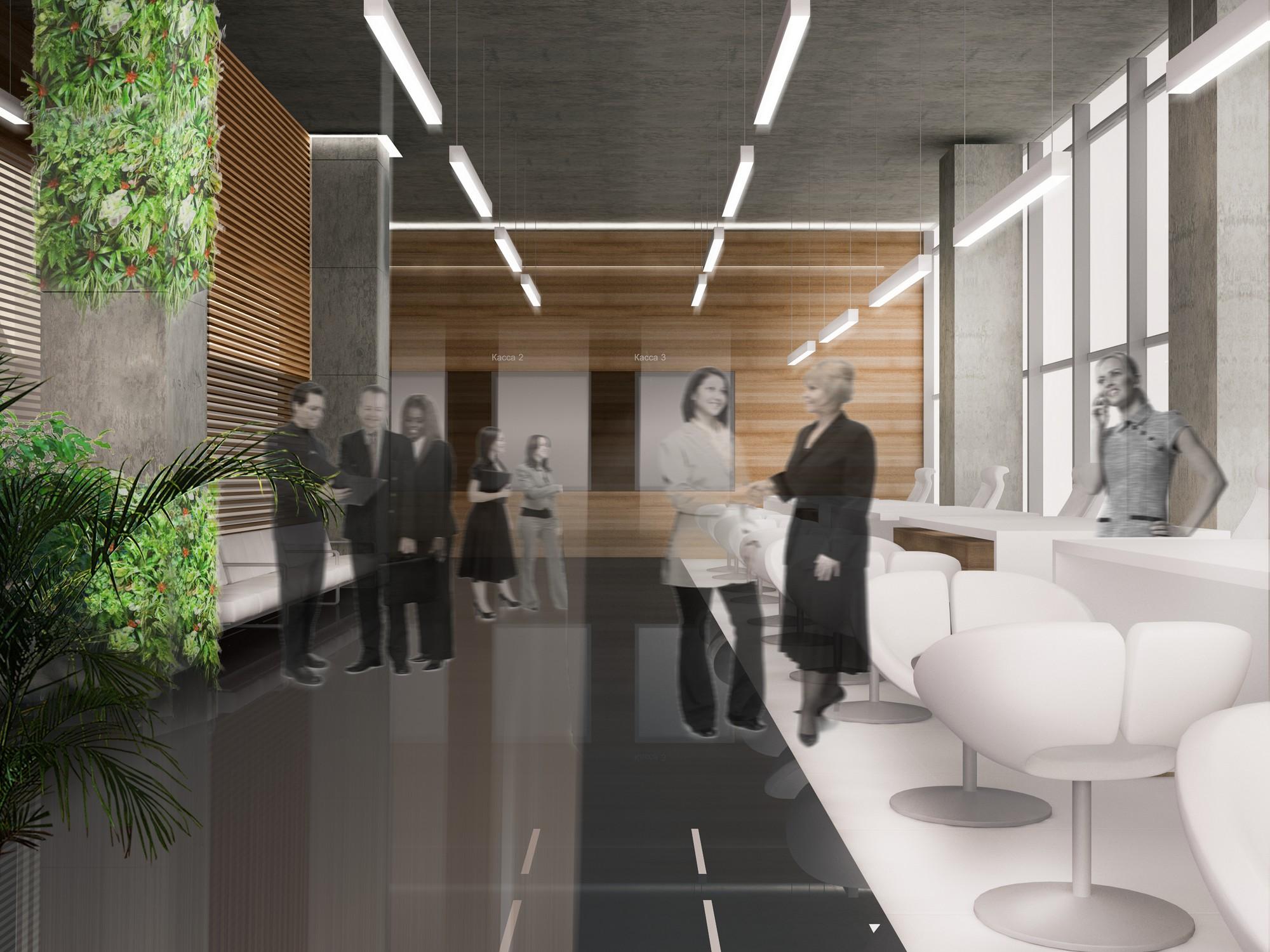 Дизайн интерьера офиса банка