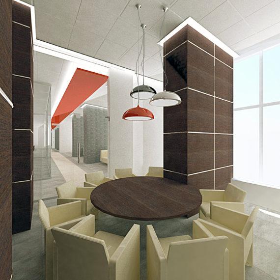 Дизайн интерьера отделения банка