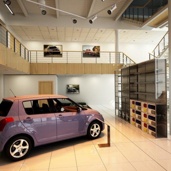Дизайн интерьера автосалона Suzuki