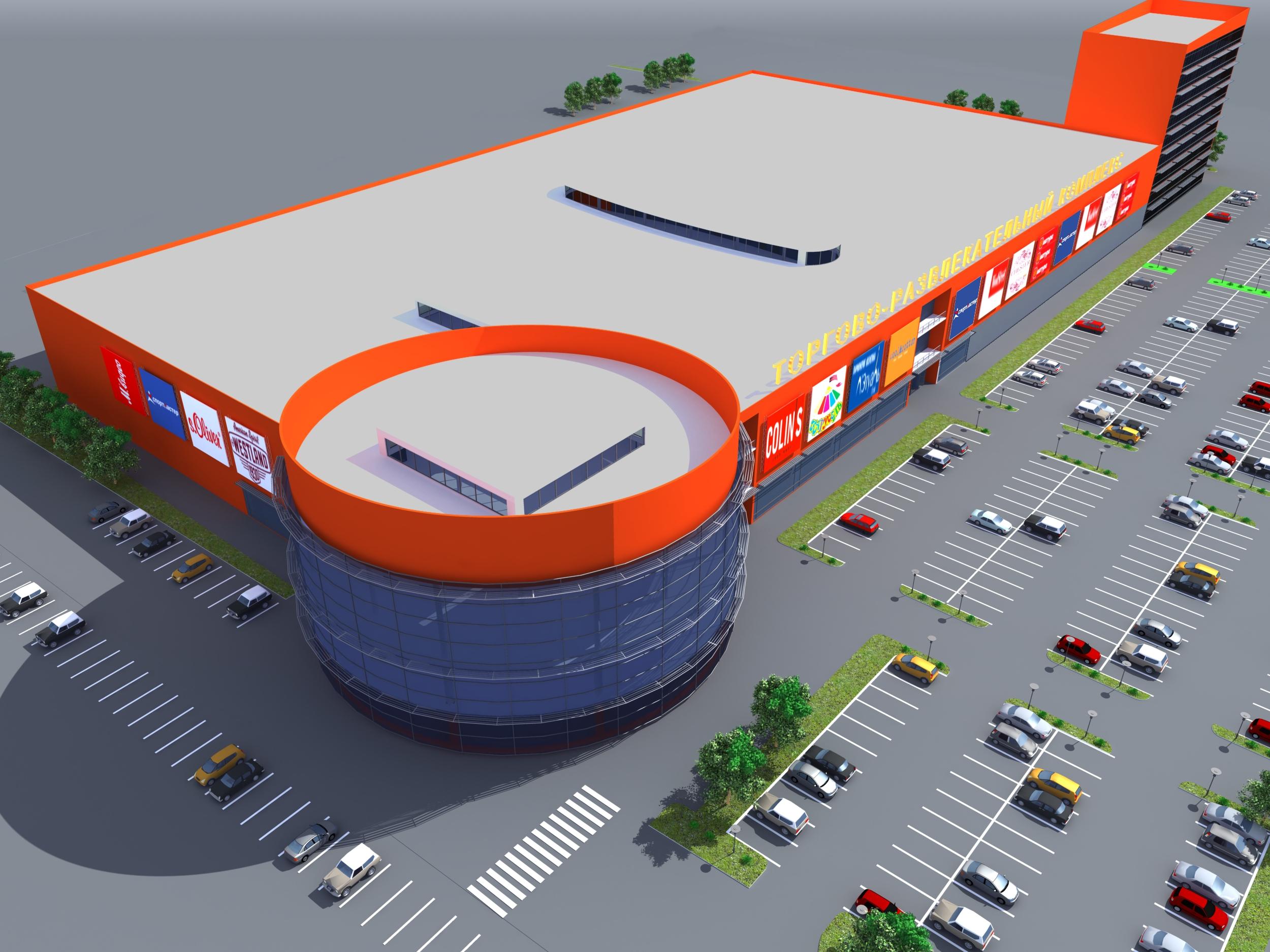 Архитектура торгового центра в Астрахани