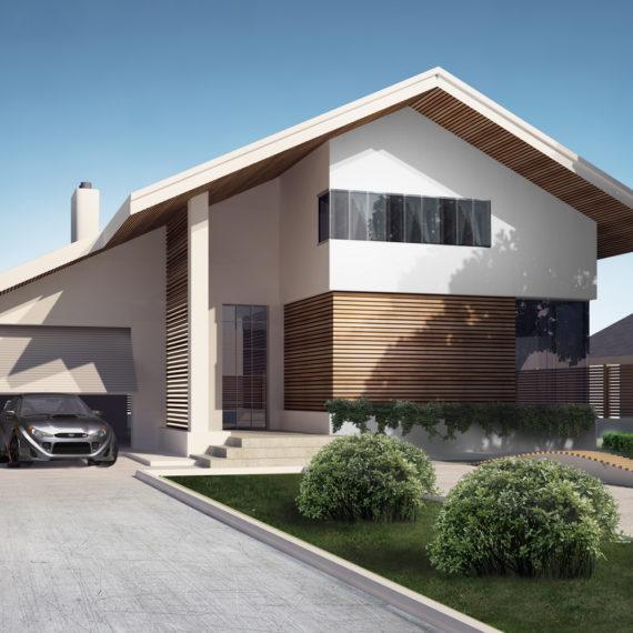 Архитектура и дизайн фасадов коттеджа