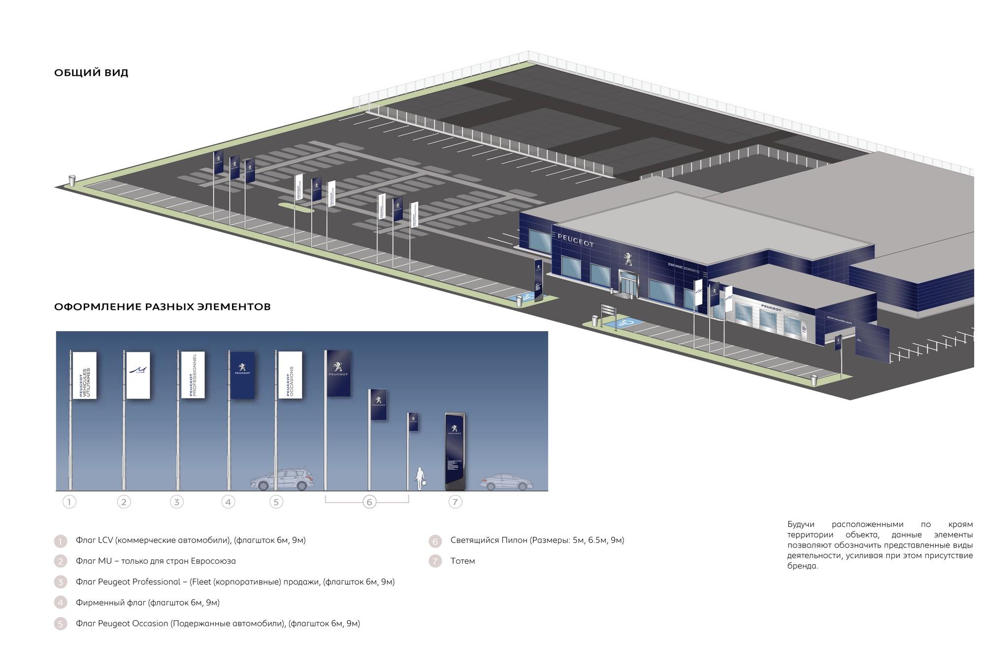 Проект автосалона и СТО Pegeot