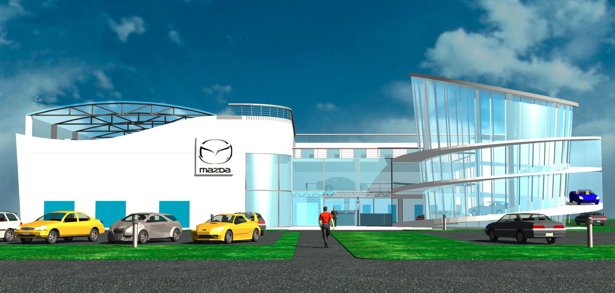 """Проект автосалона и станции техобслуживания """"Mazda"""""""