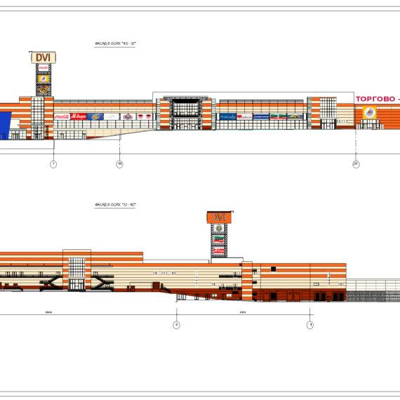 Дизайн фасадов торгово-развлекательного комплекса