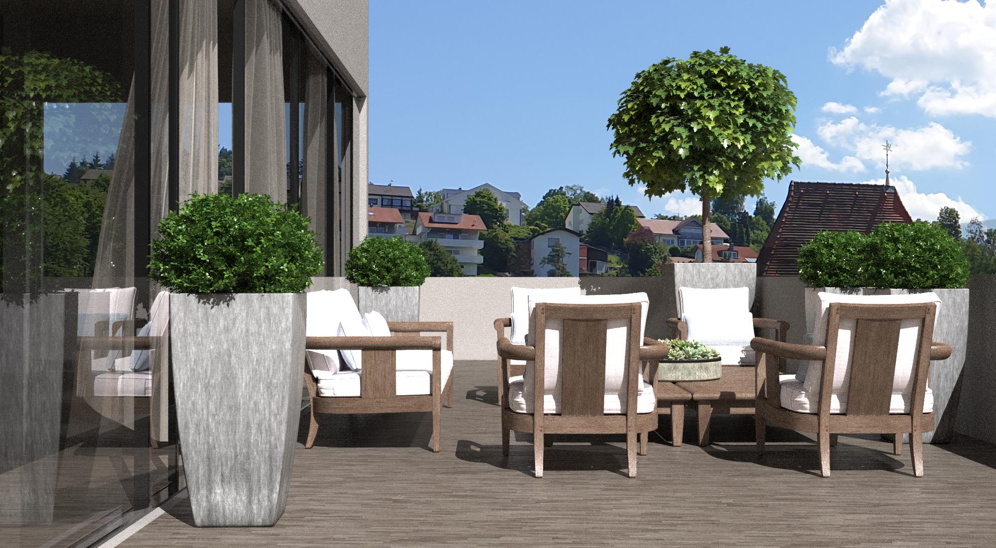 terraces of penthouse